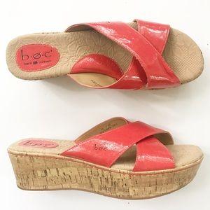 BOC Born Concepts Wedge Sandals Shoes Size 10